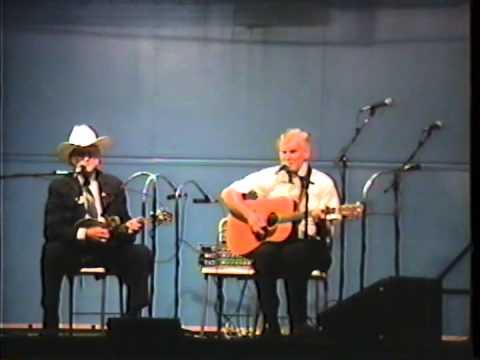 Very Rare Bill Monroe & Doc Watson Video - Midnight On The Stormy Deep - 1990