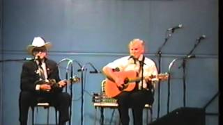 Very Rare Bill Monroe & Doc Watson Video - Midnight On The Stormy Deep - 1990