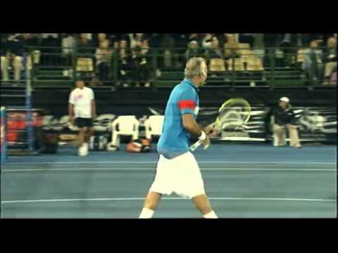 Leconte & Bahrami V Llodra & Wawrinka   World Tennis Challenge Adelaide 2012