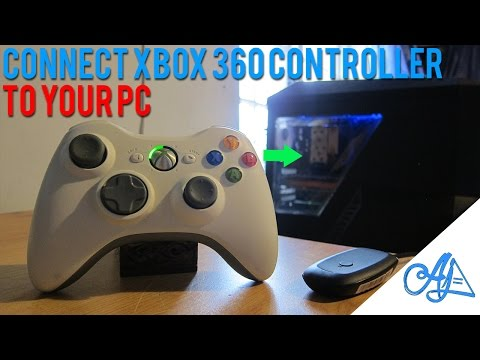 HOW TO: Connect Xbox 360 Controller to PC : (Wireless/Wired