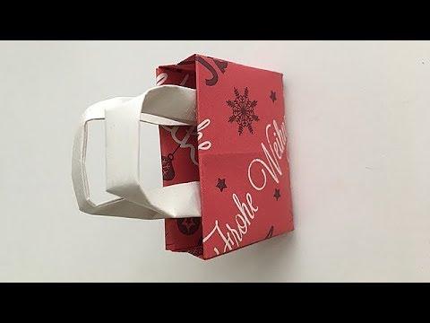 [Paper Handbag Origami] how to make folding origami easy small paper Handbag  DIY for kids