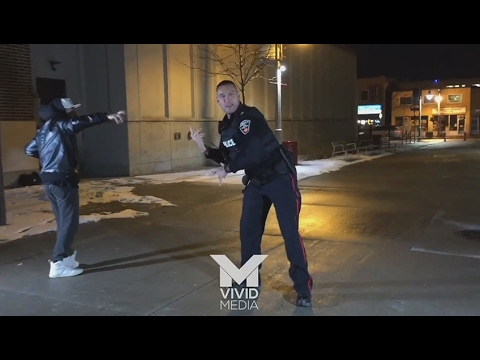 Dancing Canadian cop shows off epic moves during video shoot