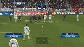 PES 2014 Real Madrid vs Galatasaray A S PC Gameplay