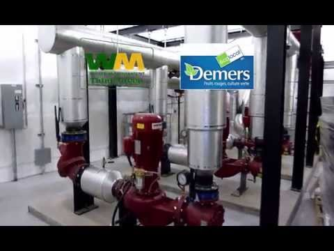Demers Heat Recovery System: Tour of HR Circuit Pumps & Greenhouse HX