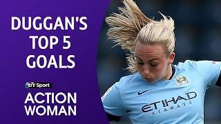 Toni Duggan's Top 5 Manchester City goals | BT Sport