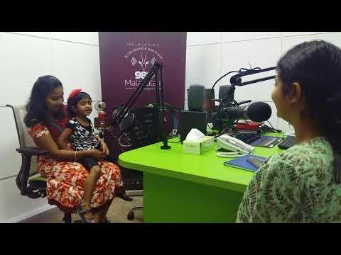 Charu/Shriya Sudheesh performing Kutti Malayalam @Malayalam Radio 98.6 FM QATAR