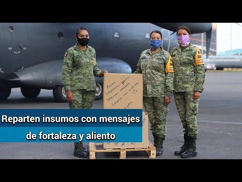 Ejército reparte insumos