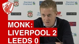 Liverpool 2-0 Leeds: Gary Monk's Post-Match Press Conference