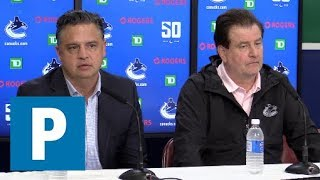 Full media scrum: Canucks brass speaks to media | The Province