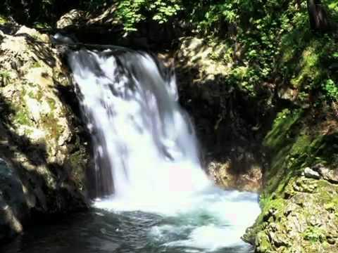 北海道の滝 Waterfall in Hokkaido,Japan.