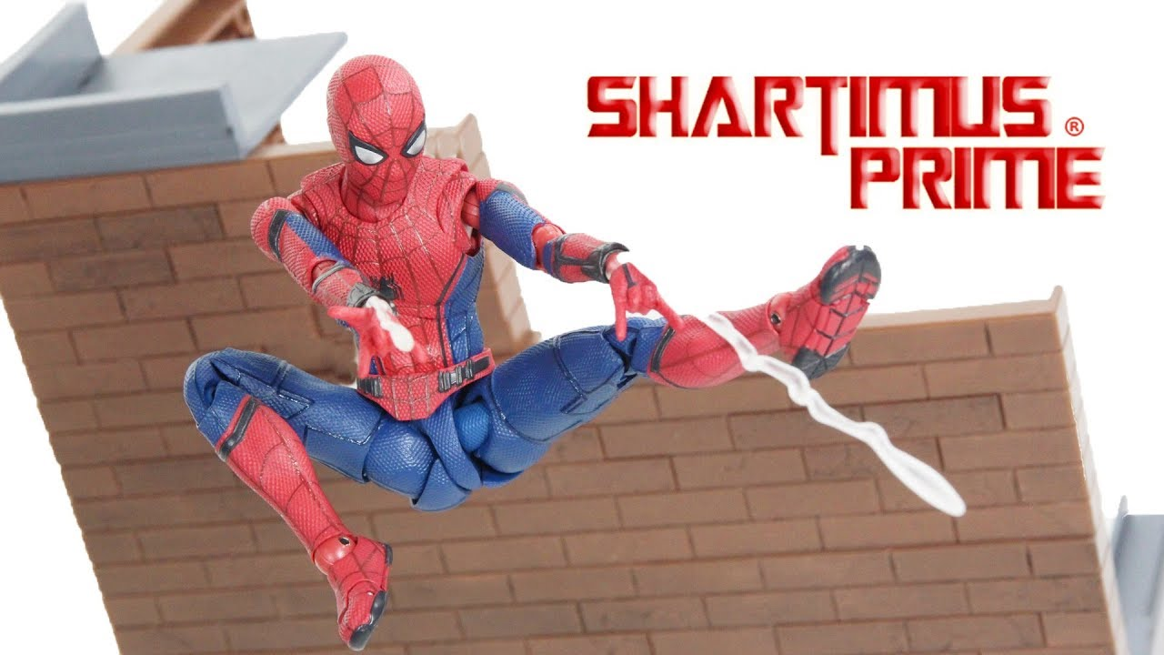 S.H.Figuarts Spider-man Homecoming /& Tamashii Option Act Wall Action Figure