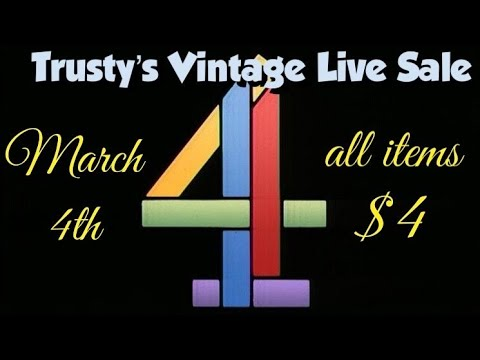 Download Trusty's Vintage Live Sale - March 4th - all items $4