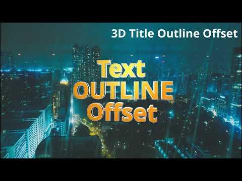 【初心者必見】 Fusionタイトル テンプレート集 3D title 編【DaVinci Resolve 16】 サンプル動画