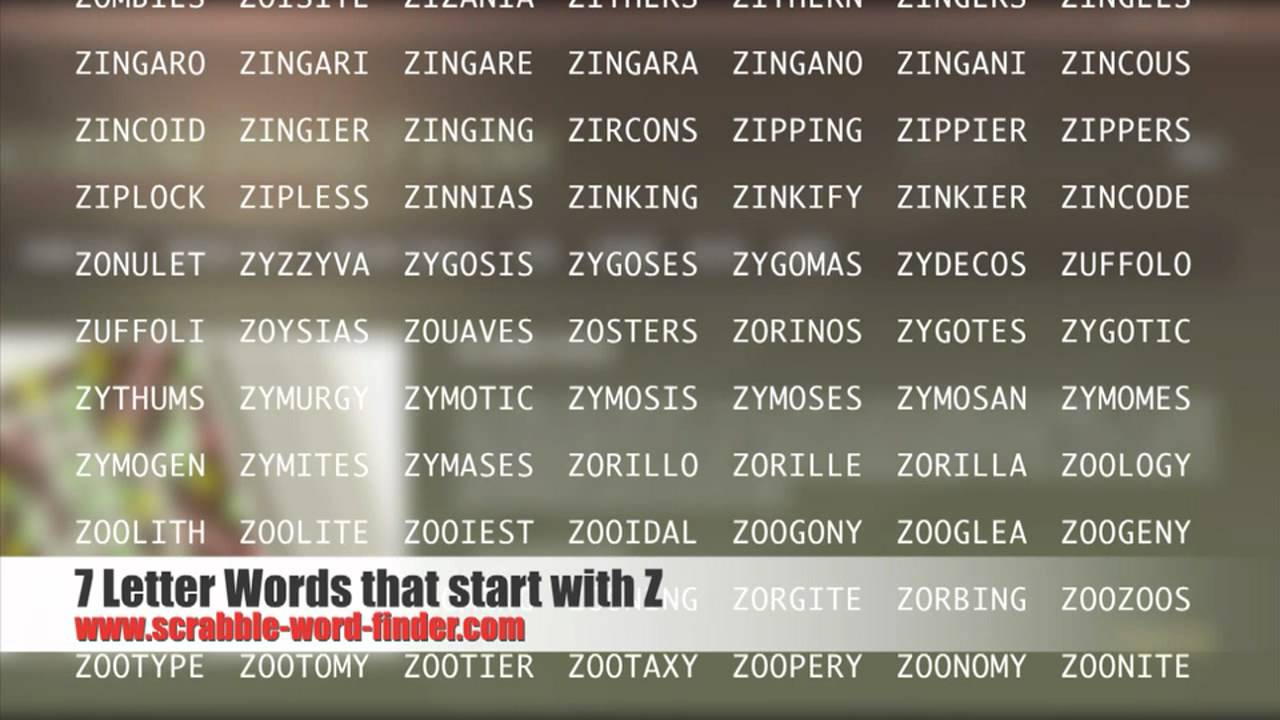 7 letter words that start with Z   YouTube