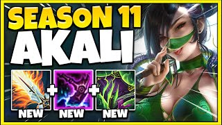 AKALI IS NOW A PENTAKILL MACHINE!!! SEASON 11 FULL GAMEPLAY (NEW ITEMS) - League of Legends