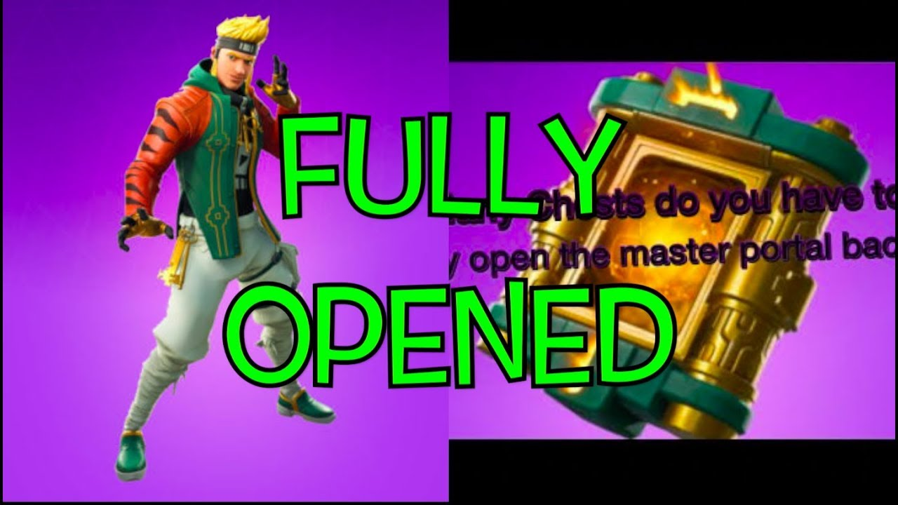 How To FULLY OPEN STAGE 2 (MASTER PORTAL BACK BLING) 2 NEW Fortnite  GLITCHES!!