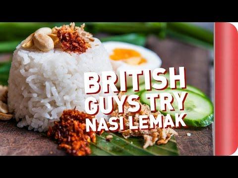 British Guys Try To Make Nasi Lemak!