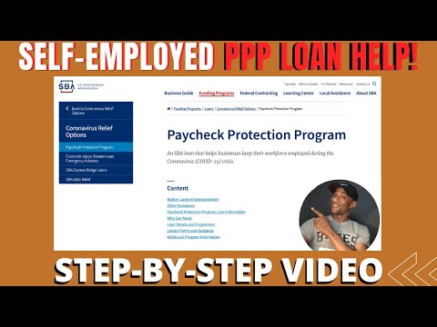 Free Money For Self-Employed / How To Apply For The PPP LOAN / Paycheck Protection Program