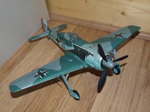 Focke Wulf FW 190 A3 Paper Model