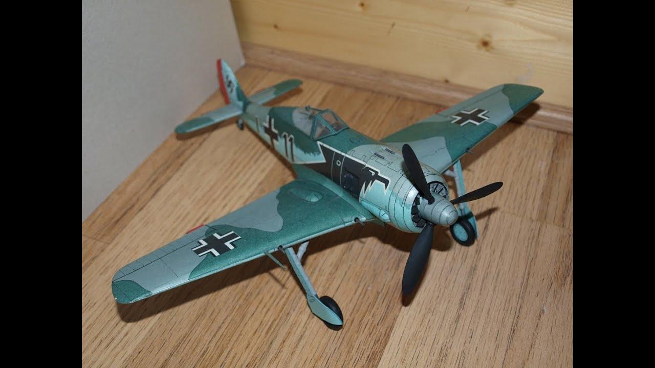 Papercraft Focke Wulf FW 190 A3 Paper Model