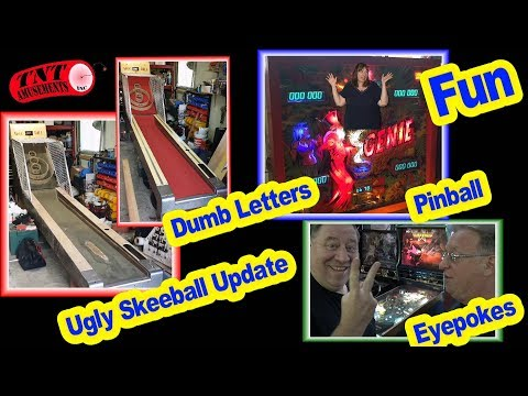 #1327 Gottlieb GENIE & GOLD WINGS Pinball-Ugly Skeeball Update TNT Amusements