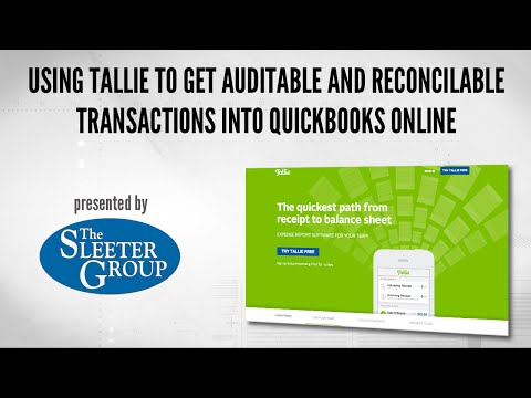 Using Tallie to get Auditable and Reconcilable Transactions into QuickBooks Online