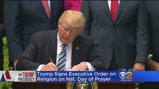 Trump Signs Executive Order On Religious Freedom