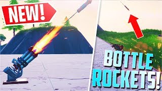 *NEW* Fortnite Bottle Rockets Gameplay! (Firework Turret)