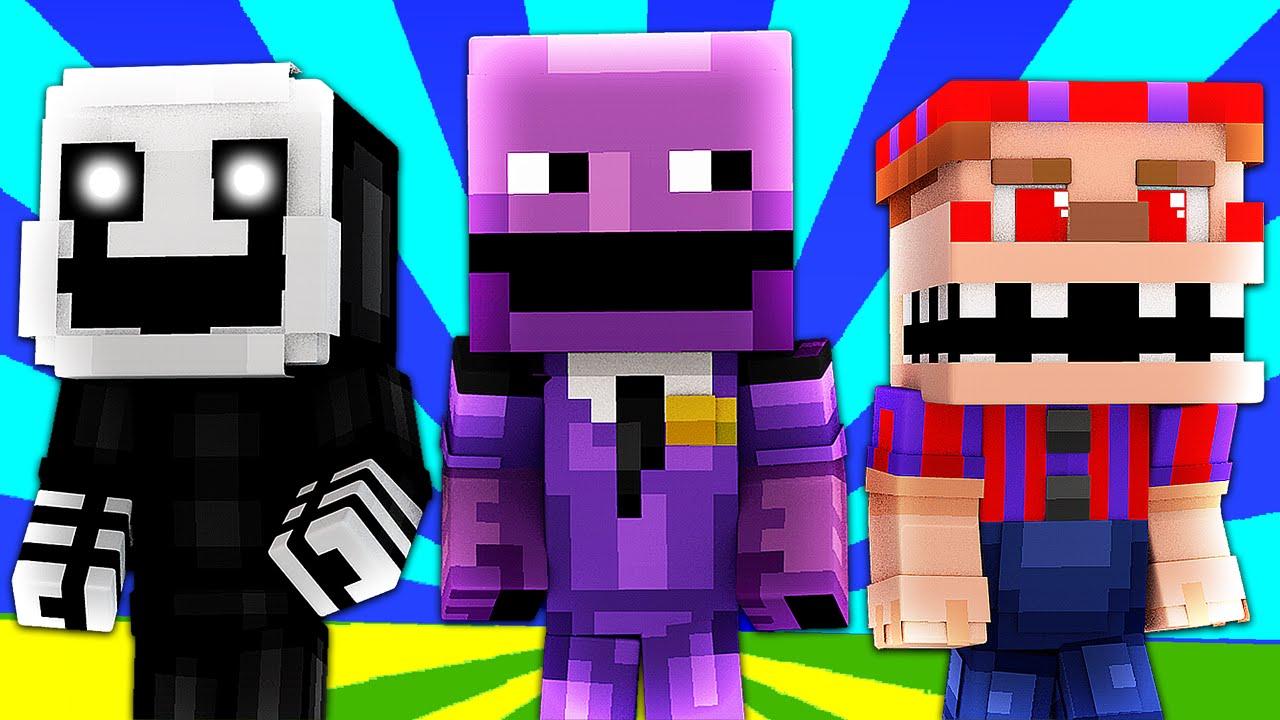 Fnaf World Purple Guy Minecraft Roleplay Night 34