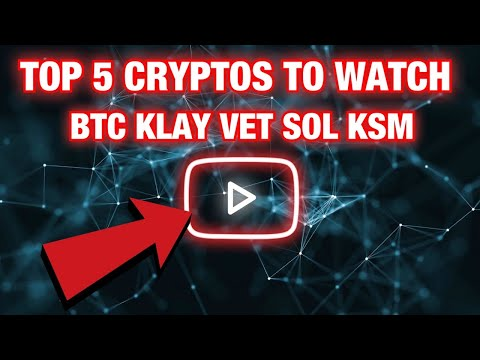 Top 5 cryptocurrencies to watch this week vechain Price Prediction 2021 Vechain Vechain News solana