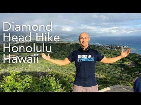 Went on a Quick Hike in Hawaii - Diamond Head Mountain | Waikiki Beach Honolulu Fitness Workout