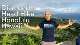 Went on a Quick Hike in Hawaii - Diamond Head Mountain | Waikiki Beach Honolulu Fitness Workout