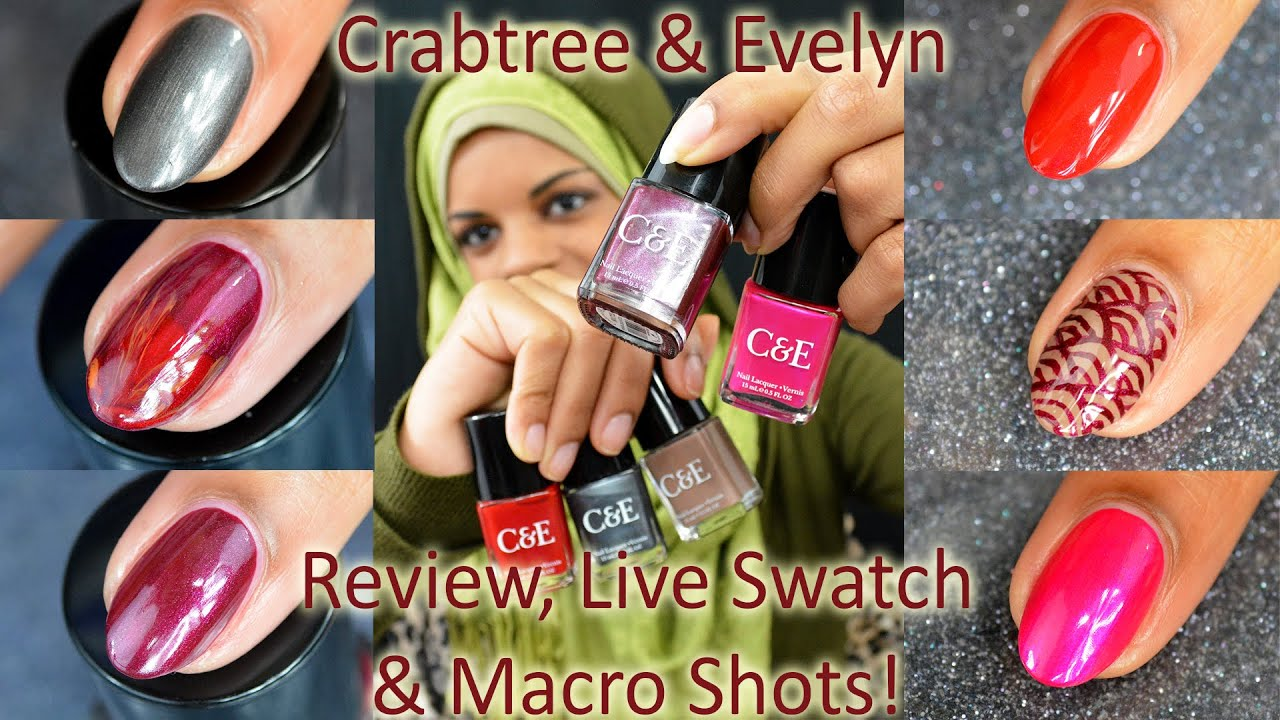 Crabtree & Evelyn Nail Polish Review, Live Swatch, & Macro Bottle ...