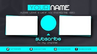 Free Vegas 14 pro OUTRO Template - Animated outro with End Cards #2