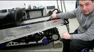 Снегоход работа задней подвески с препятствиями (видео обзор)