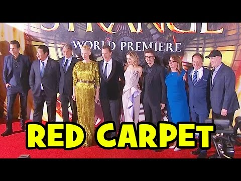 DOCTOR STRANGE World Premiere Red Carpet - Benedict Cumberbatch, Tilda Swinton, Rachel McAdams