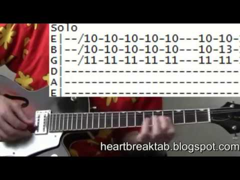 Elvis Presley Heartbreak Hotel guitar tab & chords lesson