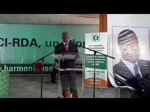 Le discours musclé de Bamba Moriféré contre Ouattara  au 6ème congrès extraordinaire du PDCI RDA