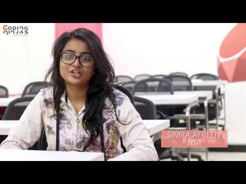 Simra Afreen on doing Android App  Development course   Coding Ninjas    Testimonial