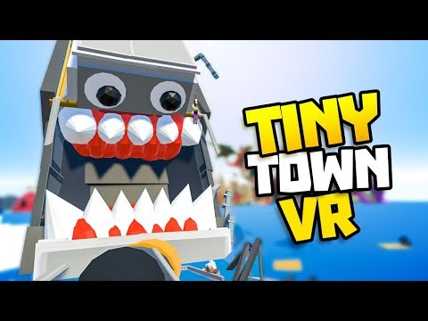 TITANIC MONSTER SINKS IN OCEAN! - Tiny Town VR Gameplay Part 31 - VR HTC Vive Gameplay Tiny Town