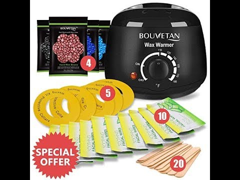 Bouvetan Hair Remover Waxing Kit Warmer Review
