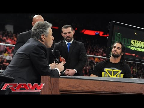 """The Daily Show with Seth Rollins"": Raw, March 2, 2015 video"