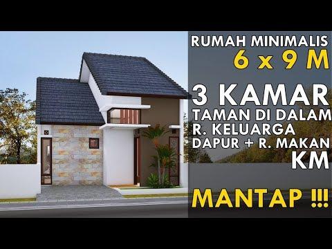 desain rumah 6 x 9 m dgn 3 kamar di desa tapi mewah - youtube