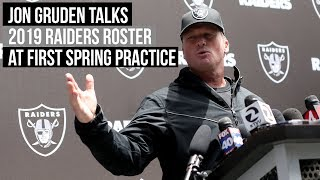 Oakland Raiders coach Jon Gruden talks 2019 NFL roster