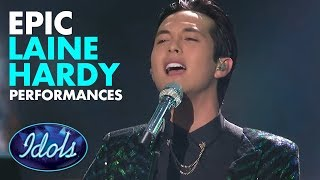 BLOWS THE ROOF OFF!  7 EPIC Performances By Laine Hardy On American Idol  | Idols Global