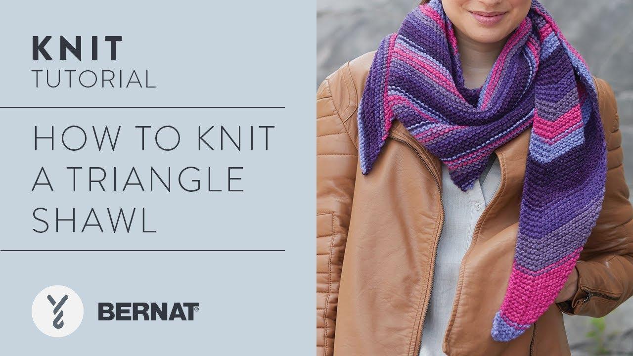 Knit A Triangle Shawl Youtube