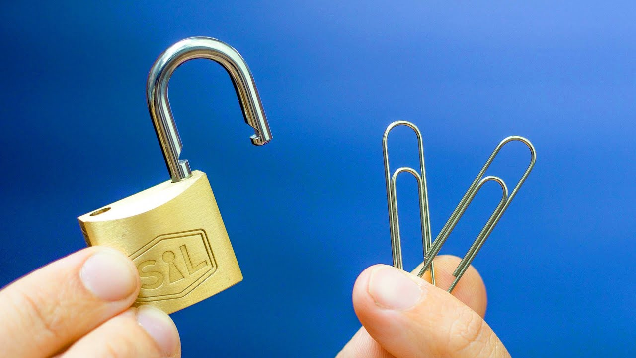 Can you actually pick a lock with PAPERCLIPS?