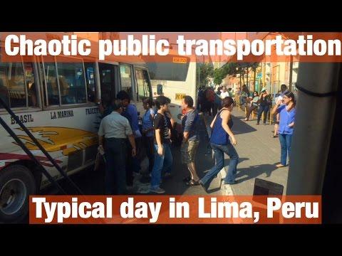 Crazy public transportation in Lima, Peru (video 24)