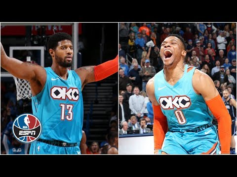 Paul George's 39, Russell Westbrook's triple-double power Thunder vs. Magic | NBA Highlights