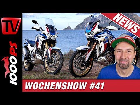 Triumph Street Triple RS, Honda Africa Twin 2020, Kawa Z H2, Husky Nuda 900 - 1000PS Wochenshow #41